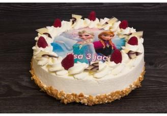 Ronde foto taart